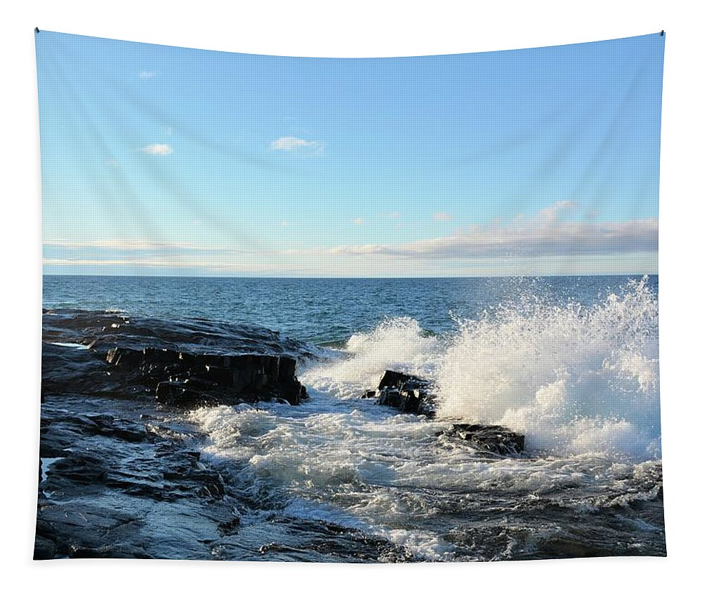 Lake Tapestry featuring the photograph Morning Splash 2 by Bonfire Photography