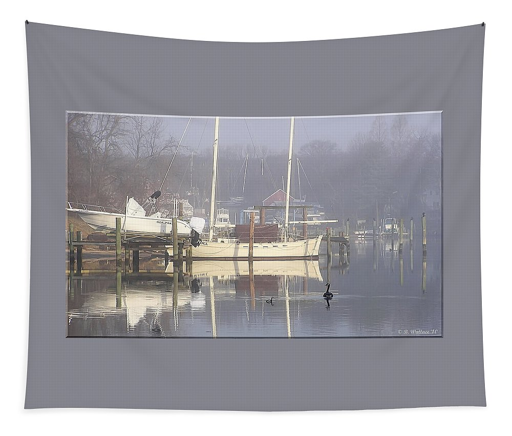 2d Tapestry featuring the photograph Morning Stroll by Brian Wallace