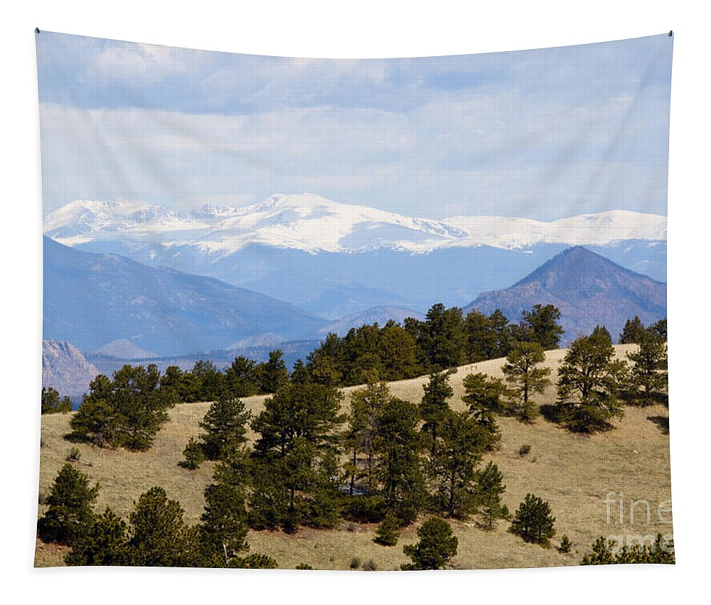 Mosquito Range Mountains Tapestry featuring the photograph Mosquito Range Mountains From Bald Mountain Colorado by Steve Krull