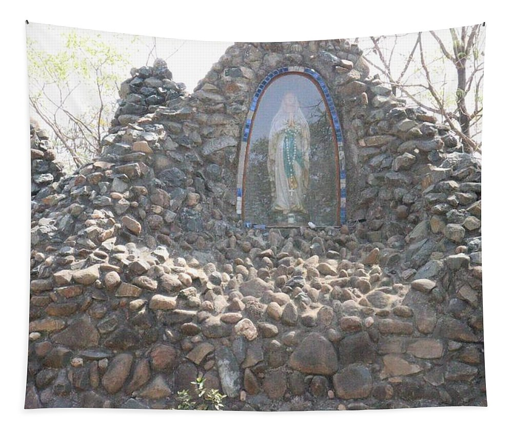 Mother Tapestry featuring the photograph Mother Mary by Nilu Mishra