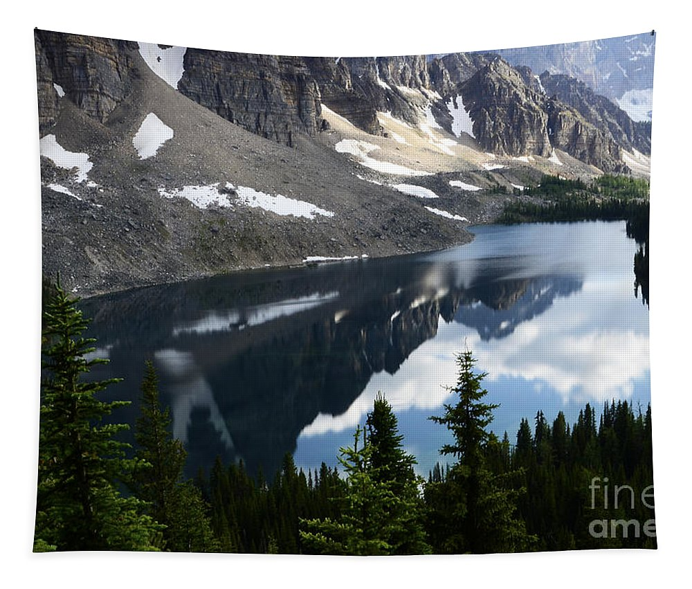 Mount Assiniboine Tapestry featuring the photograph Mount Assiniboine Canada 13 by Bob Christopher