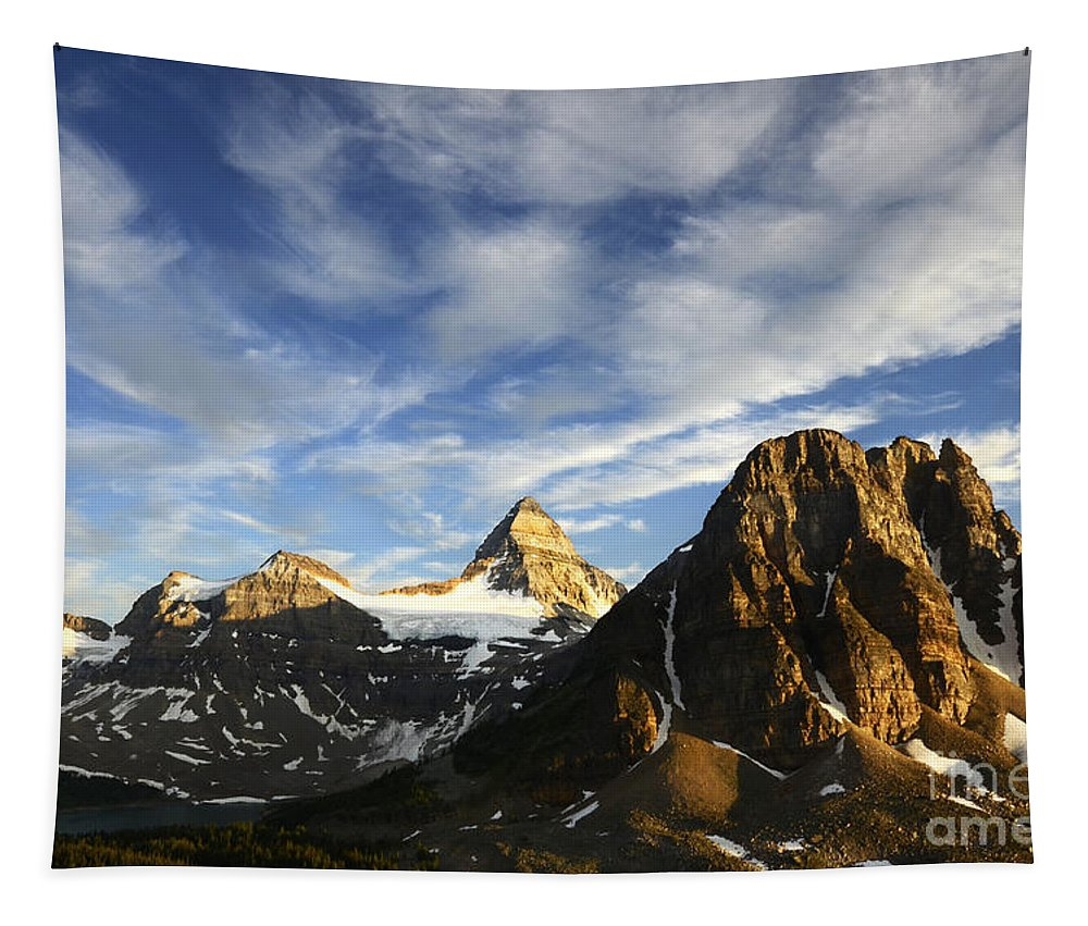 Mount Assiniboine Tapestry featuring the photograph Mount Assiniboine Canada 14 by Bob Christopher