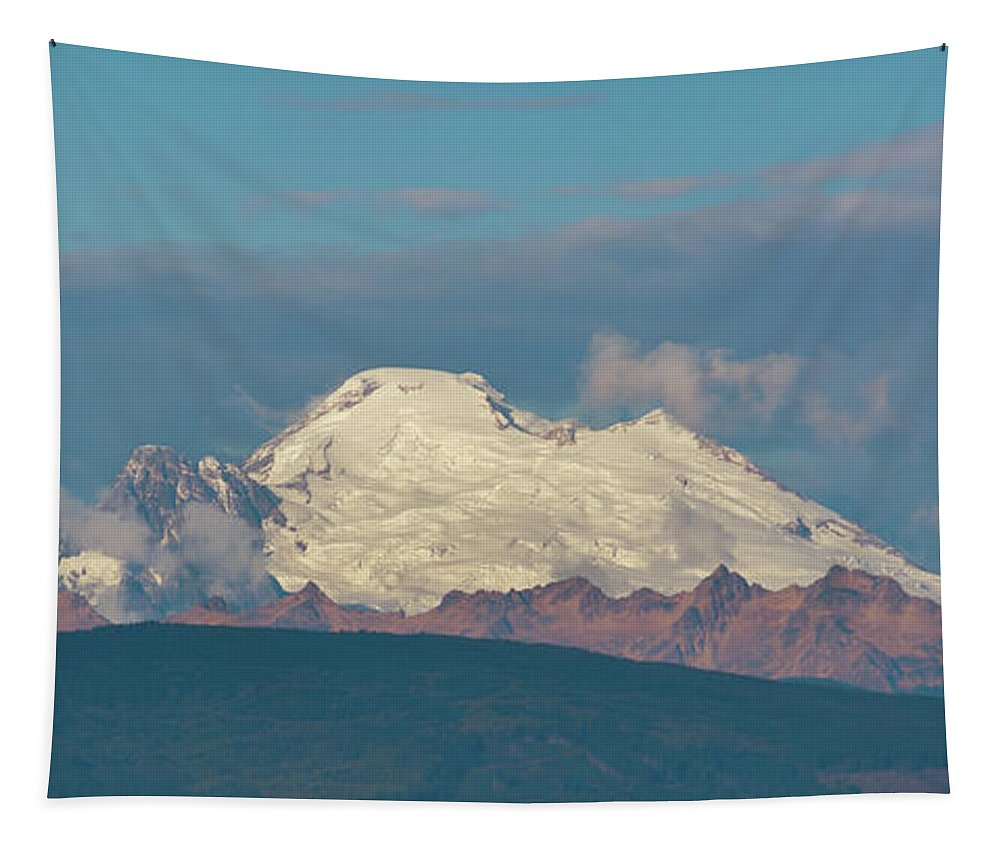America Tapestry featuring the photograph Mount Baker Panorama by Marv Vandehey