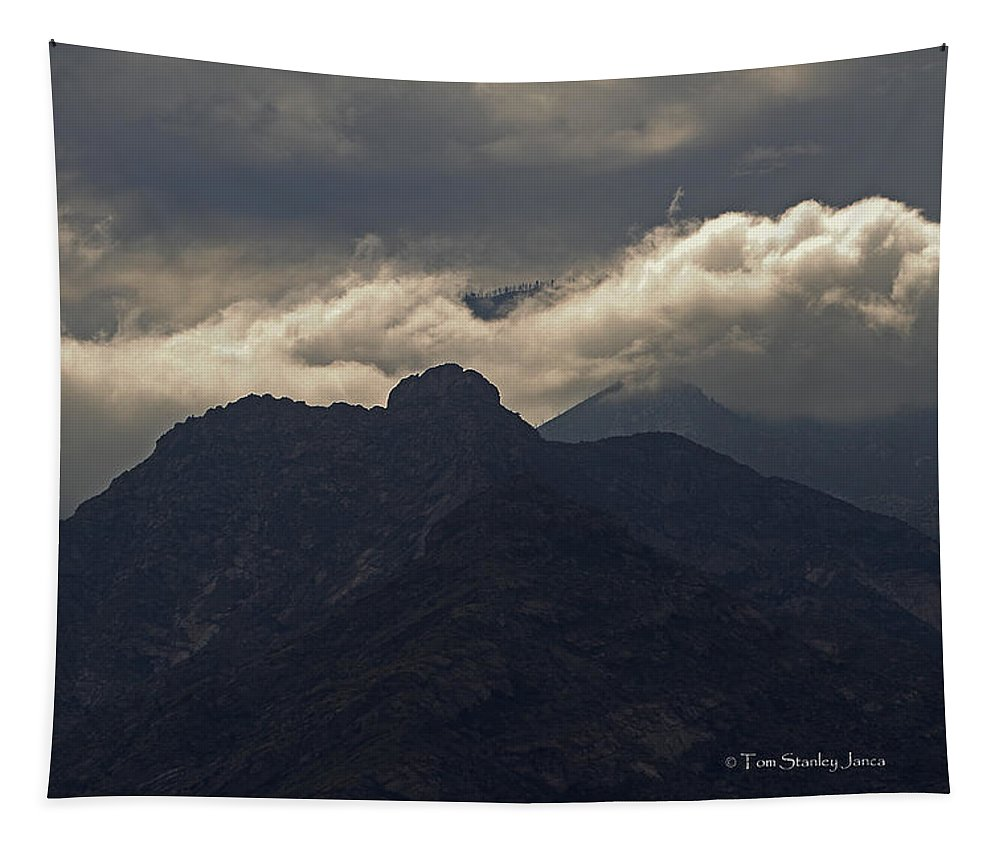 Mount Graham Tapestry featuring the photograph Mount Graham Mountain In Arizona by Tom Janca