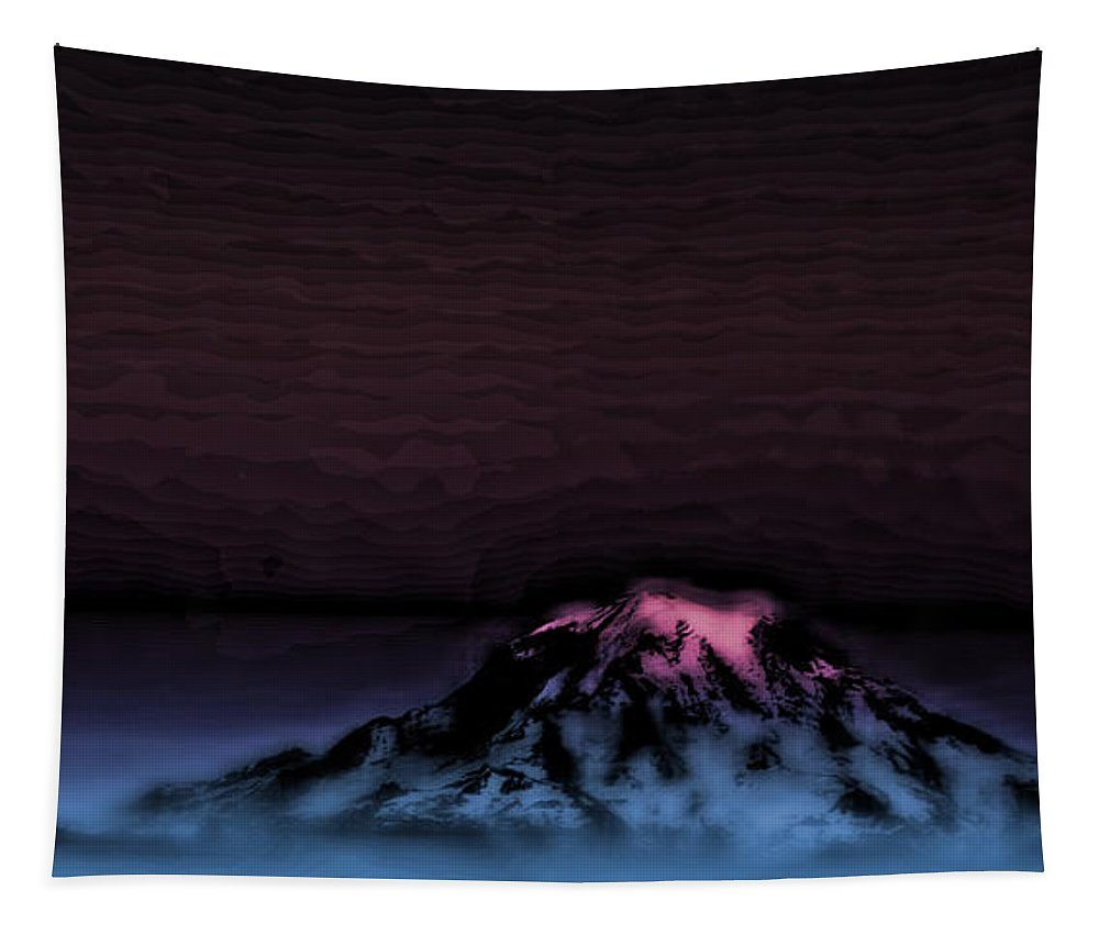 Digital Art Tapestry featuring the photograph Mount Rainier by David Patterson
