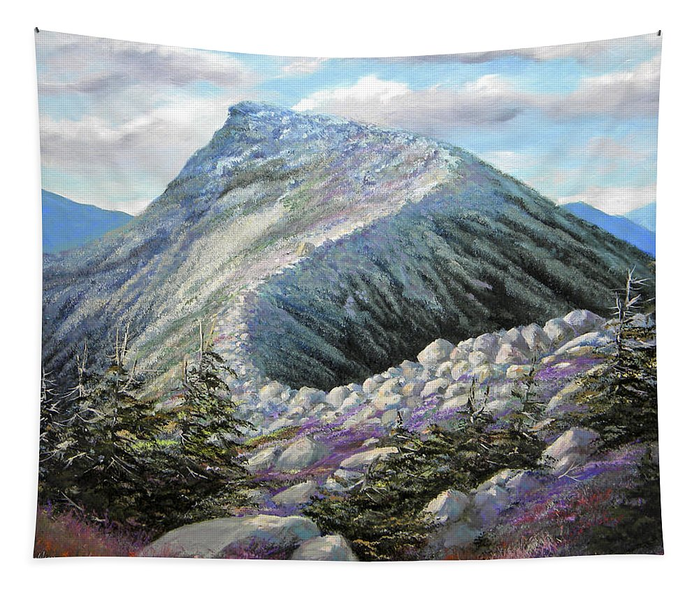 Landscape Tapestry featuring the painting Mountain Ridge by Frank Wilson