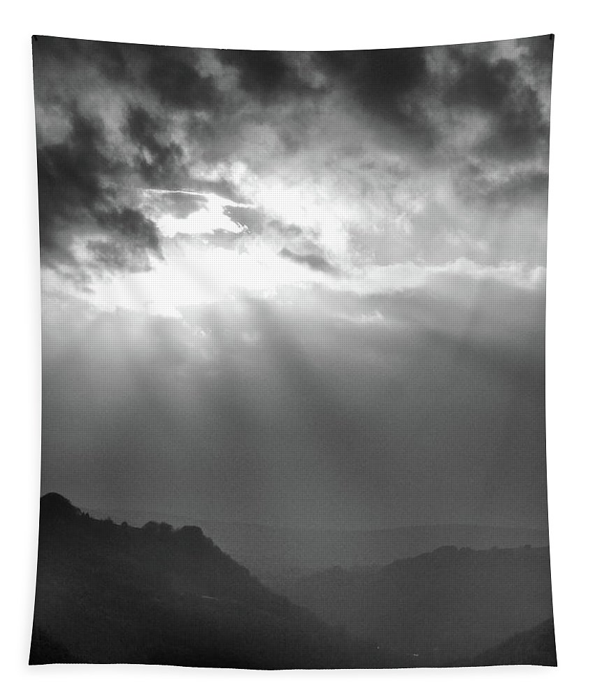 Mountains Tapestry featuring the photograph Mountain Sunset by Philip Openshaw