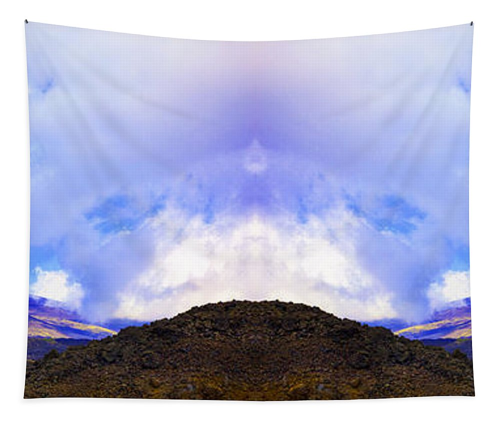 Mountains Tapestry featuring the photograph Mountain Tops In Sicily by Madeline Ellis