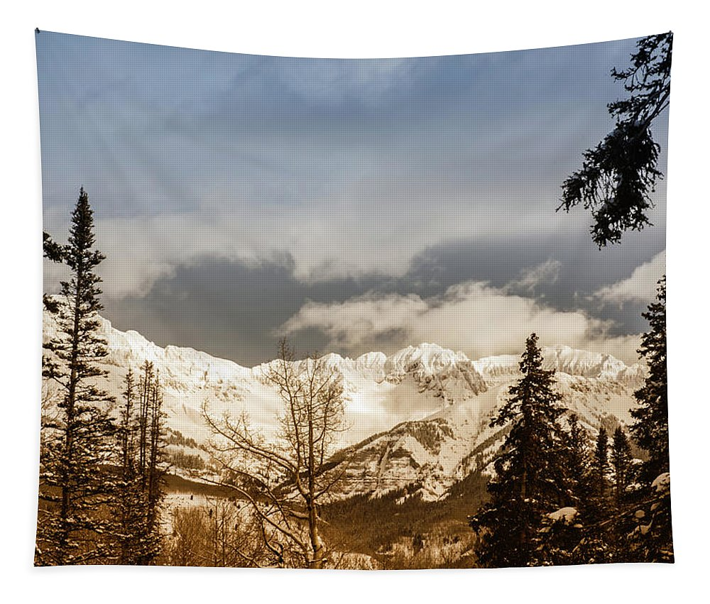 Mountains Tapestry featuring the photograph Mountain Vista by Chad Madden