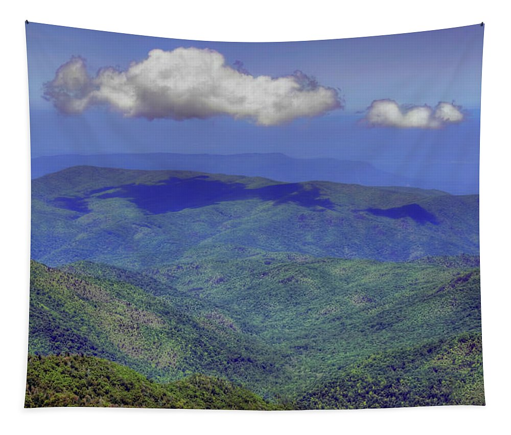Mountains Tapestry featuring the photograph Mountains - Sky - Great Smokies by Nikolyn McDonald