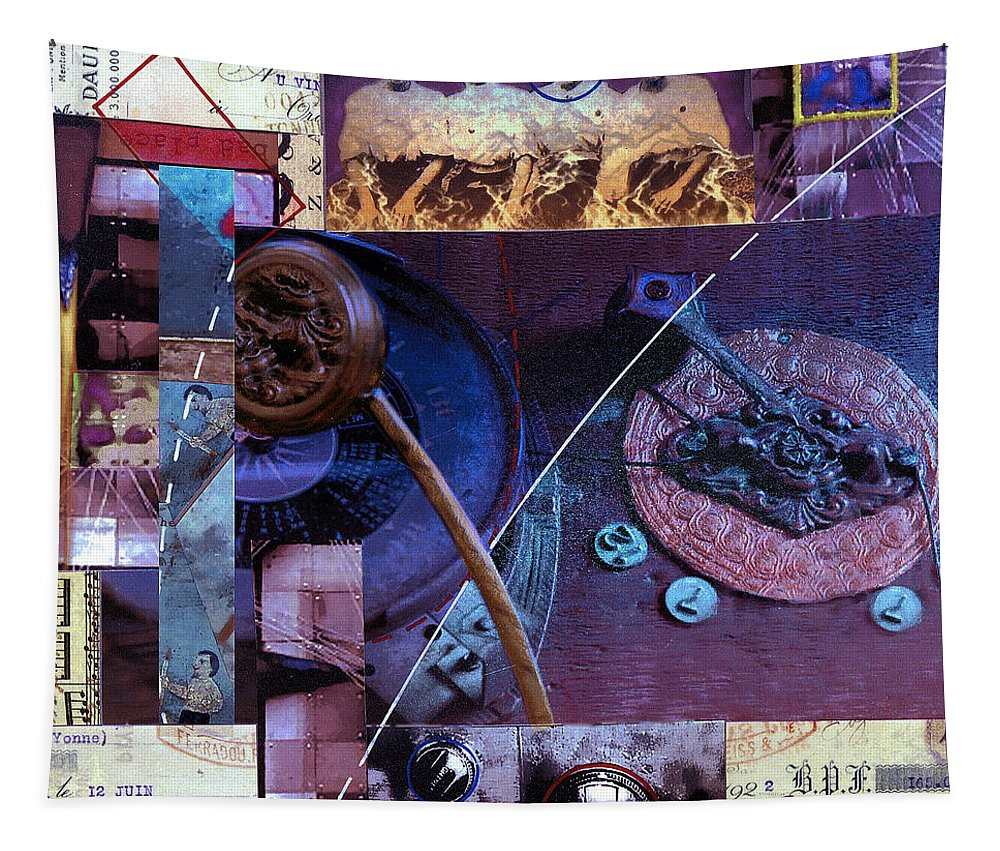 Collage Tapestry featuring the painting Mounting by Dominic Piperata