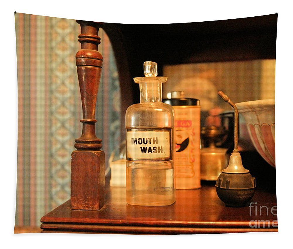 Mouth Wash Tapestry featuring the photograph Mouth Wash In The Old Days by Jeff Swan