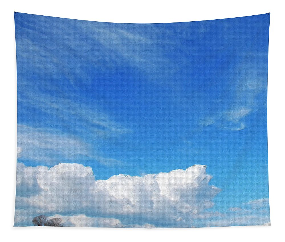 Clouds Tapestry featuring the painting Moving Fast by Dominic Piperata