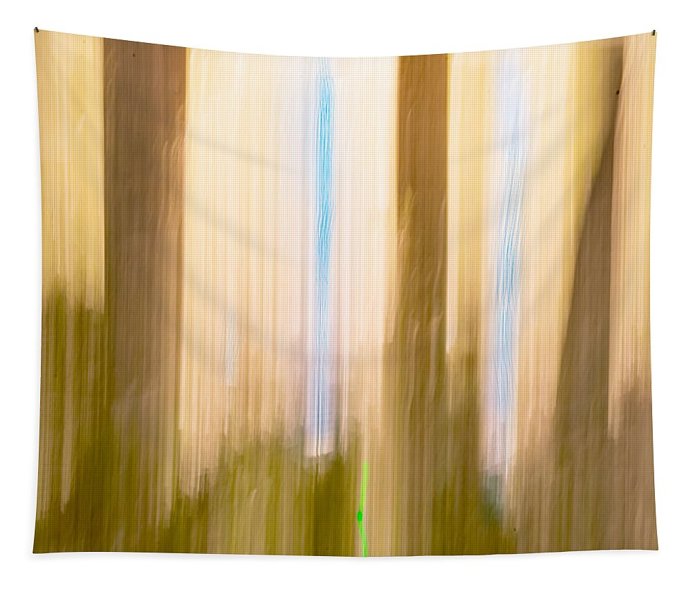 Moving Tapestry featuring the photograph Moving Trees 15 Gold Brown by Gene Norris