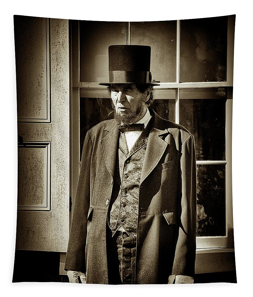 Lincoln Tapestry featuring the photograph Mr Lincoln by Paul W Faust - Impressions of Light