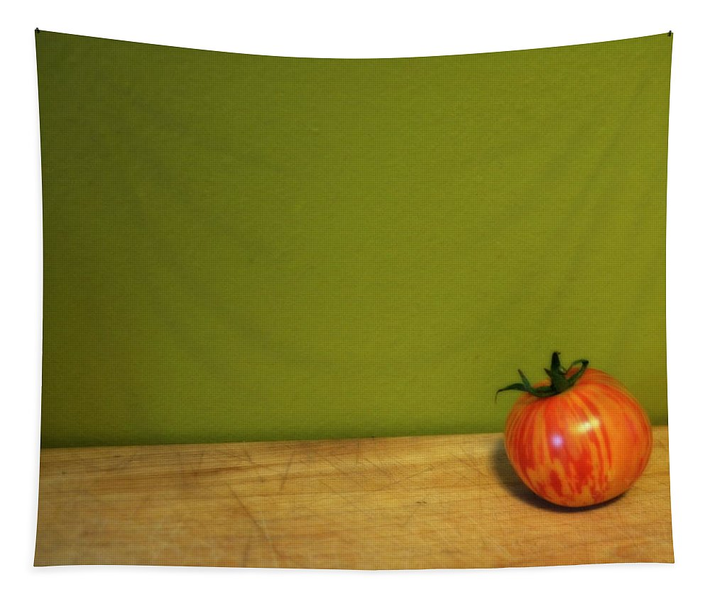 Tomato Tapestry featuring the photograph Mr. Stripey by Michelle Calkins