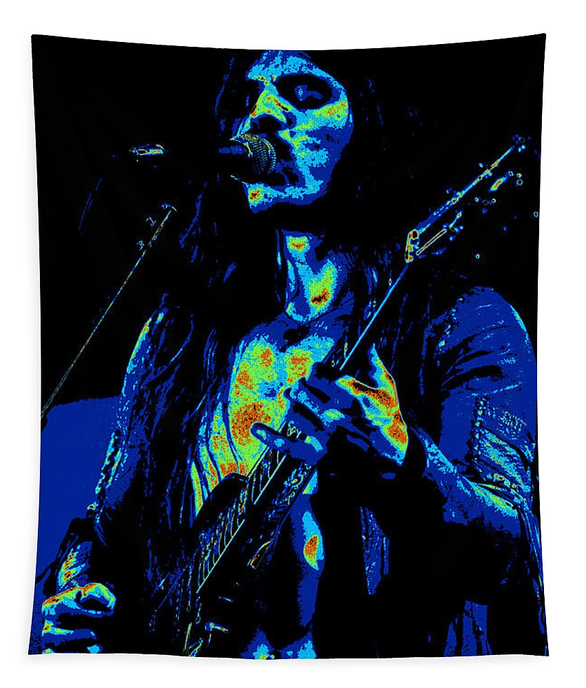 Frank Marino Tapestry featuring the photograph Mrmt #73 Enhanced In Cosmicolors by Ben Upham