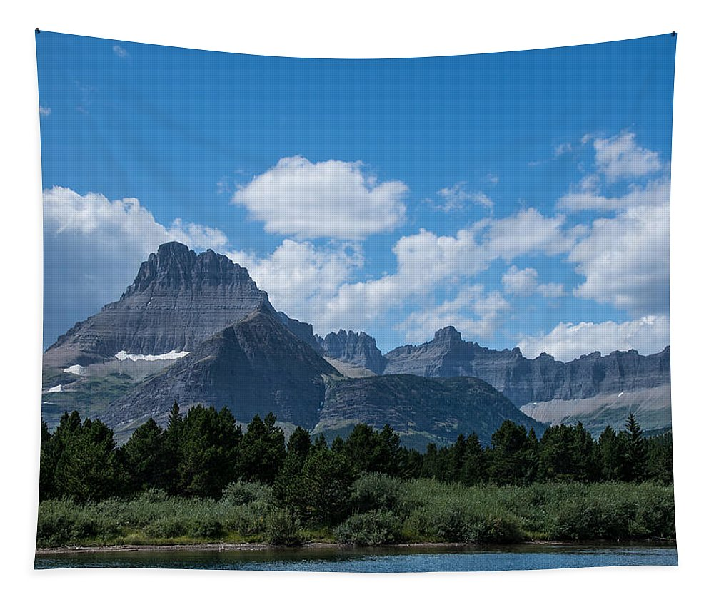 Mt Wilbur Tapestry featuring the photograph Mt Wilbur In Glacier National Park by Mick Anderson