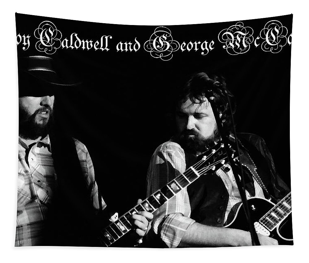 Musicians Tapestry featuring the photograph Mtbspo79 #50 Enhanced Bw With Text by Ben Upham
