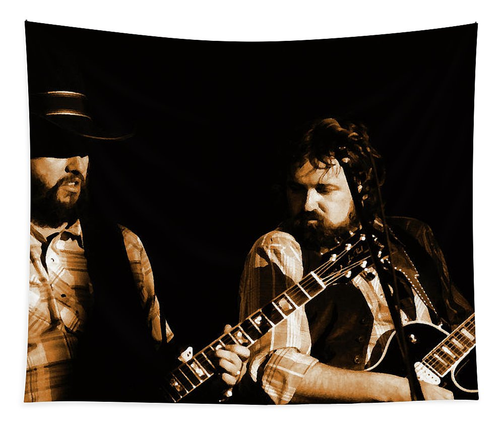 Musicians Tapestry featuring the photograph Mtbspo79 #50 Enhanced In Amber by Ben Upham