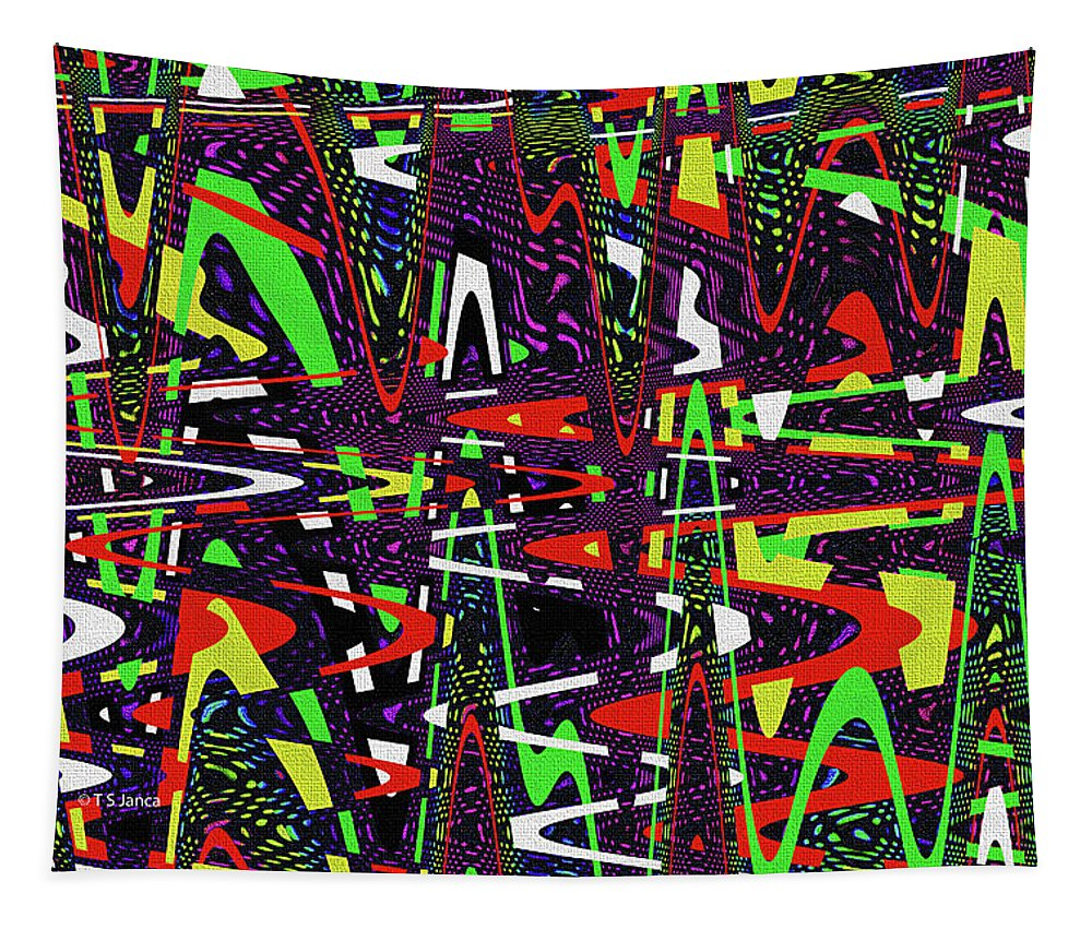 Multi Color Abstract Tapestry featuring the photograph Multi Color Abstract by Tom Janca