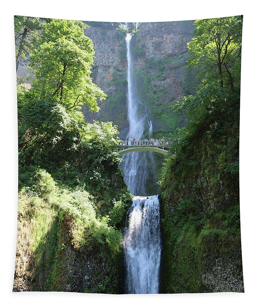 Multnomah Falls Tapestry featuring the photograph Multnomah Falls by Carol Groenen