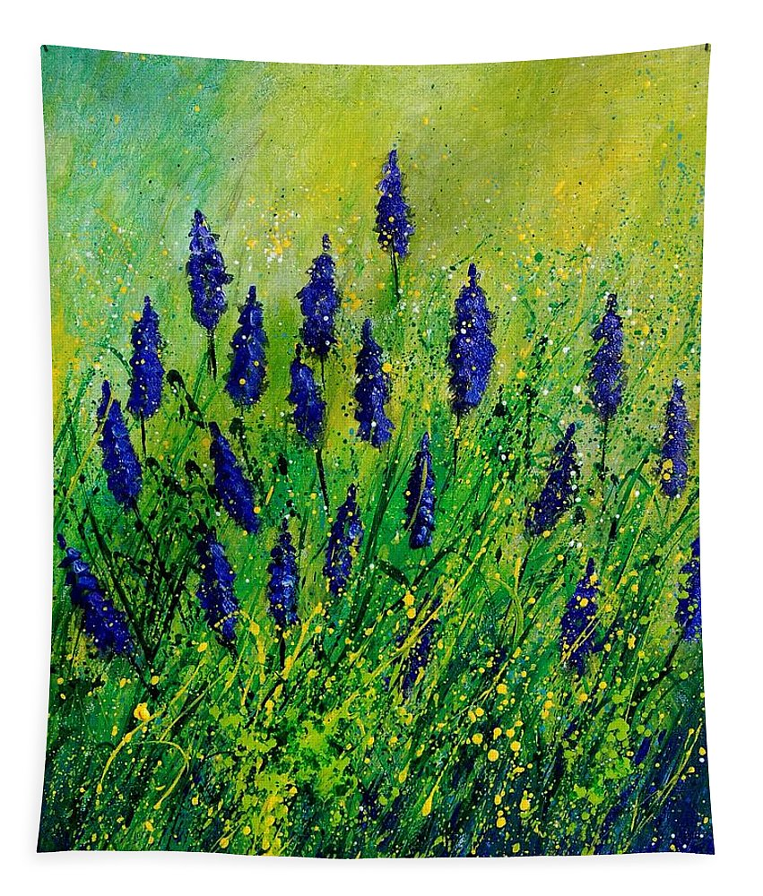 Flowers Tapestry featuring the painting Muscaris 4590 by Pol Ledent