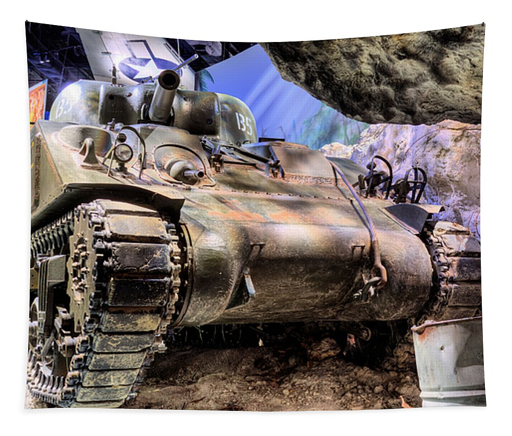 Marine Corps Museum Tank Tanks Battle Usmc Marines Military Quantico Washington Dc Virginia Va Vetran Veteren Veteran War Tapestry featuring the photograph Museum Of The Marine Corps by JC Findley