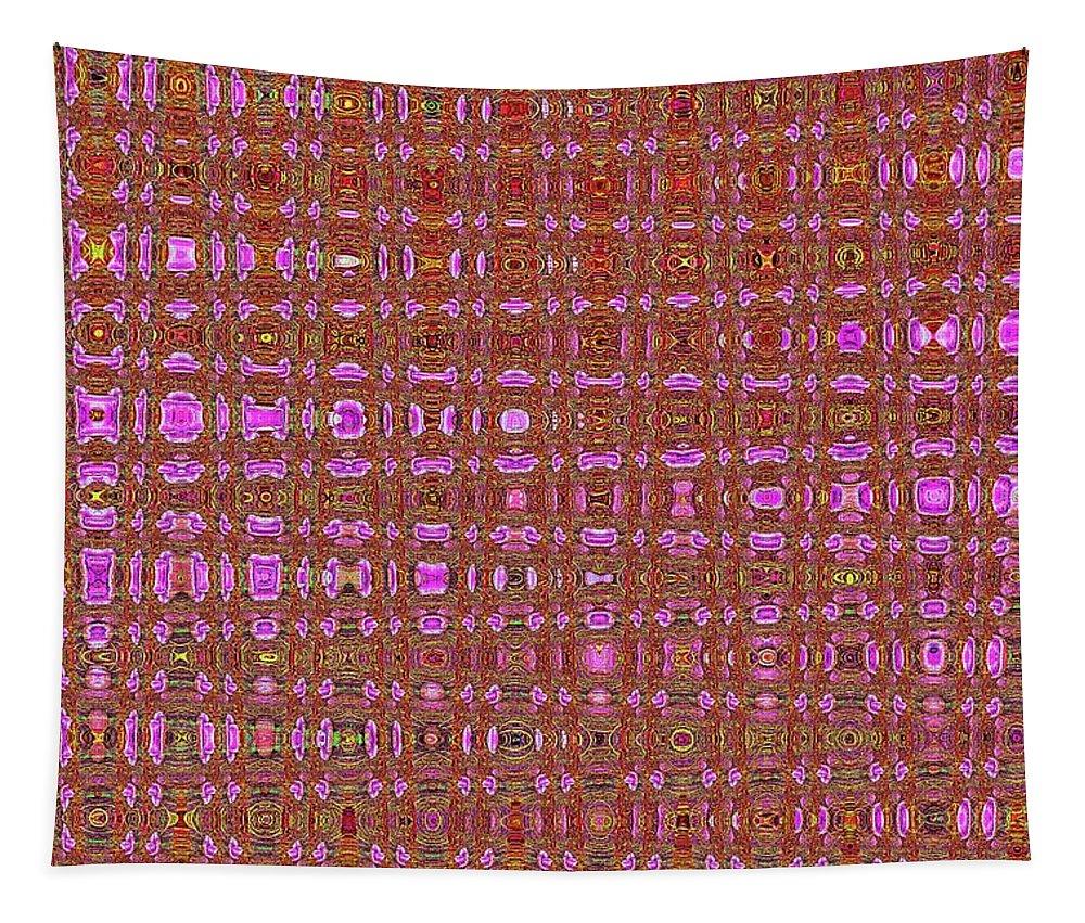 Mushroom # 7979 Abstract Tapestry featuring the digital art Mushroom # 7979 Abstract by Tom Janca