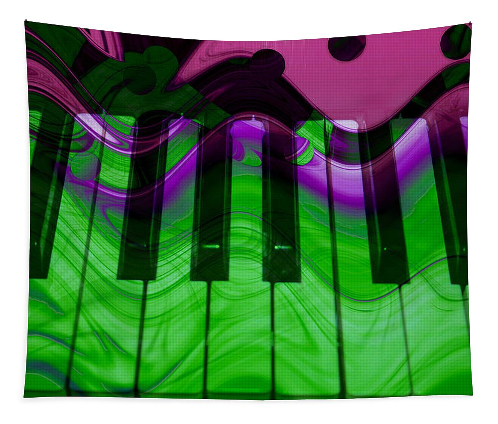 Music In Color Tapestry featuring the photograph Music In Color by Linda Sannuti