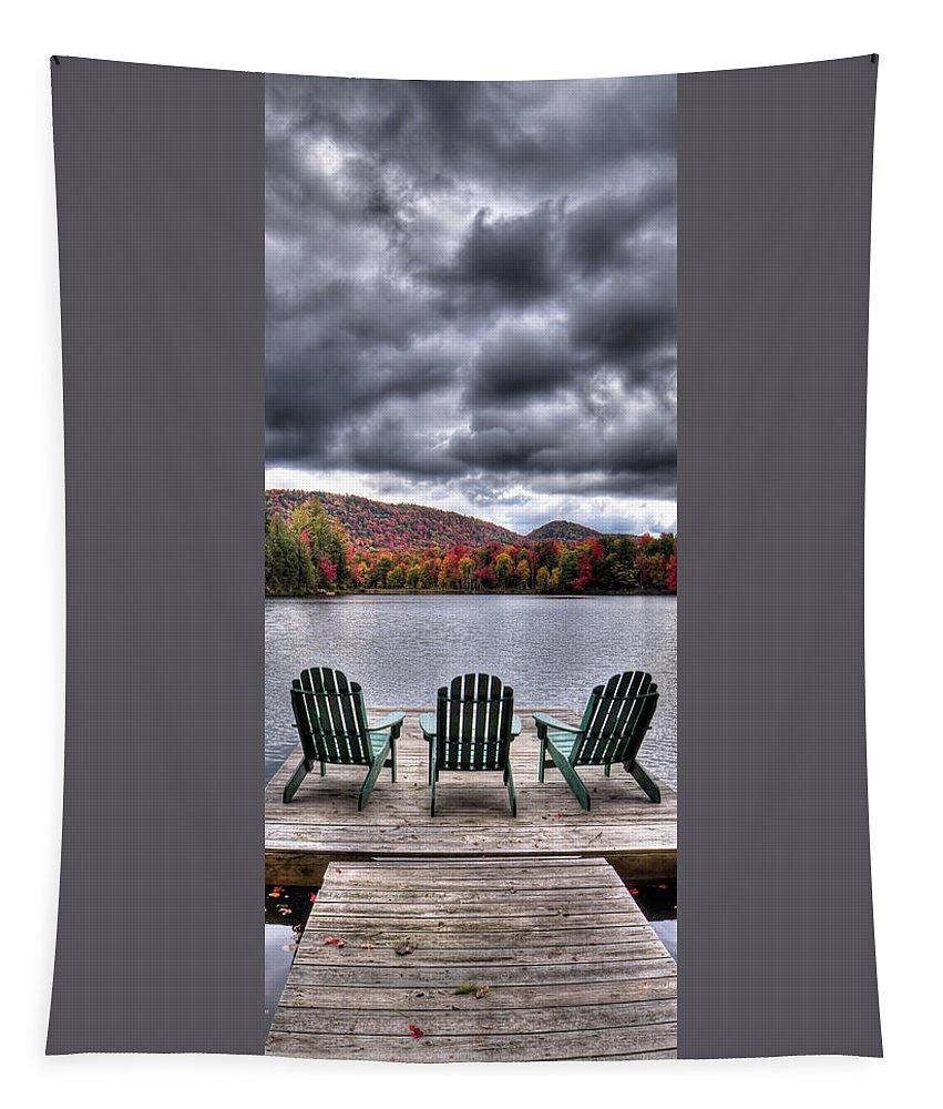 Adirondack Landscapes Tapestry featuring the photograph My Autumn View by David Patterson