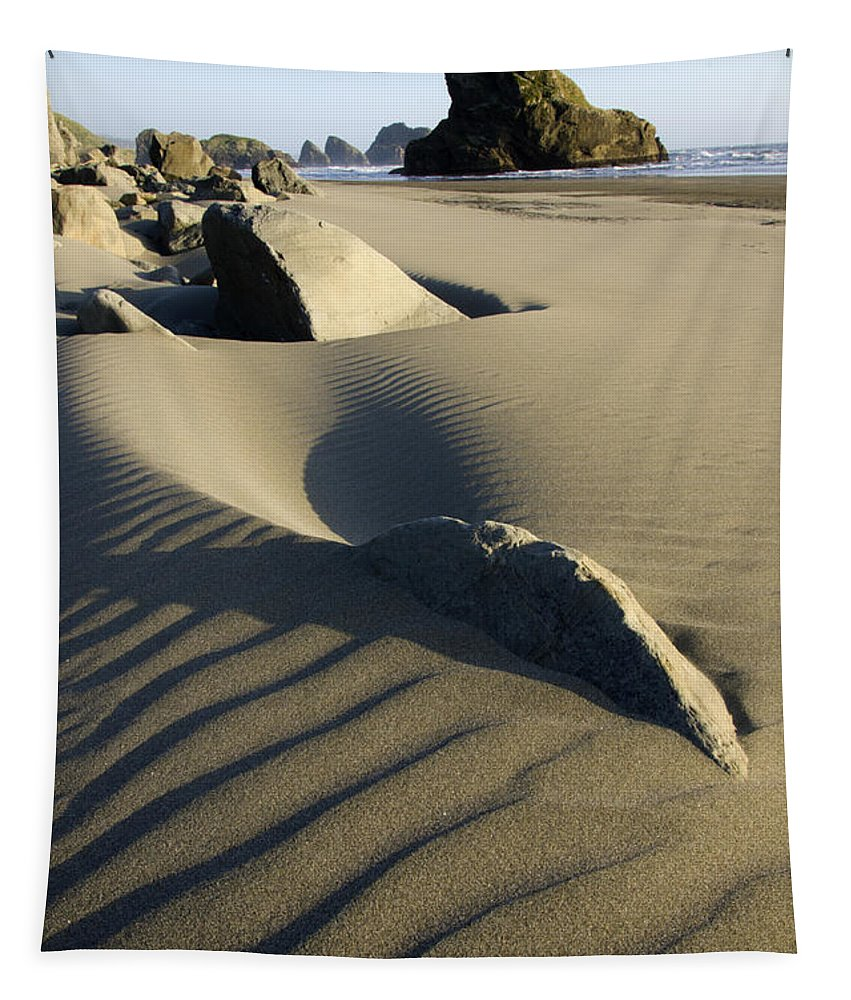 Beaches Tapestry featuring the photograph Myers Creek Beach Oregon 1 by Bob Christopher