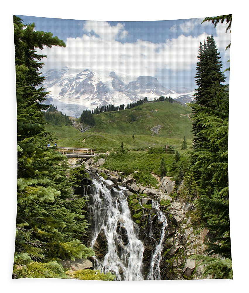 Myrtle Falls Tapestry featuring the photograph Myrtle Falls by Debby Richards