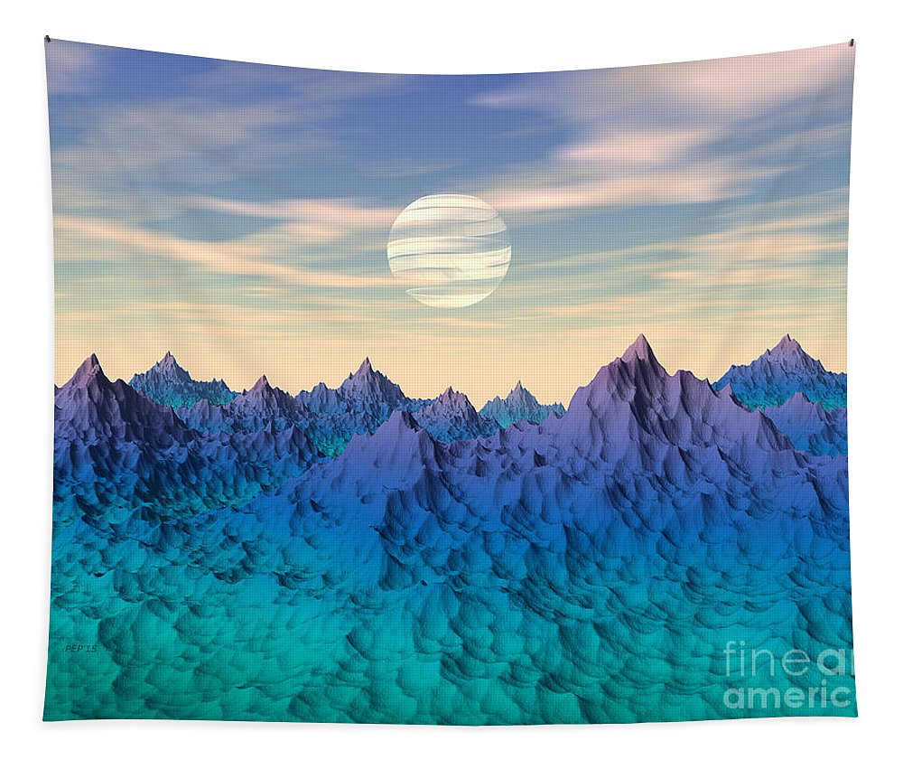 Alien World Tapestry featuring the digital art Mysterious World by Phil Perkins