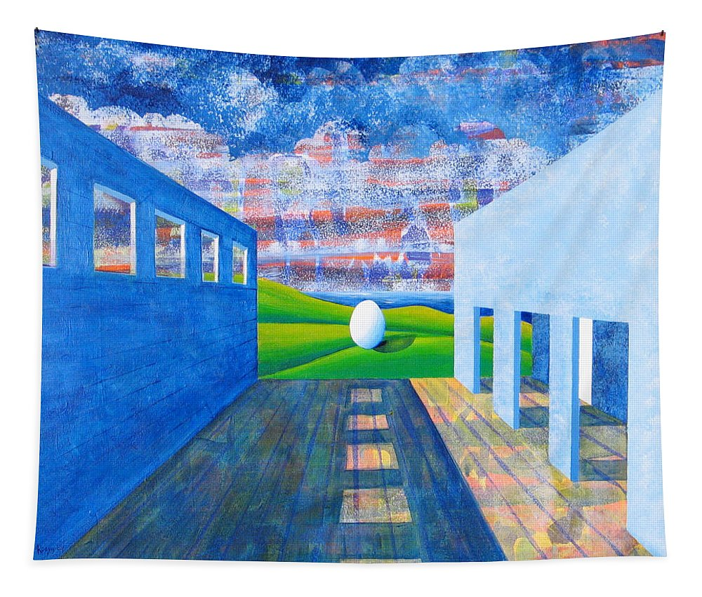 Surrealism Tapestry featuring the painting Mystery And Memory by Rollin Kocsis