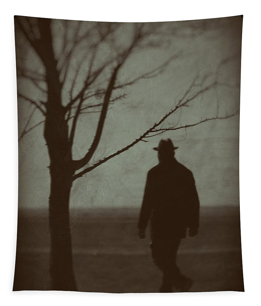 Man Tapestry featuring the photograph Mystery Man by Karol Livote