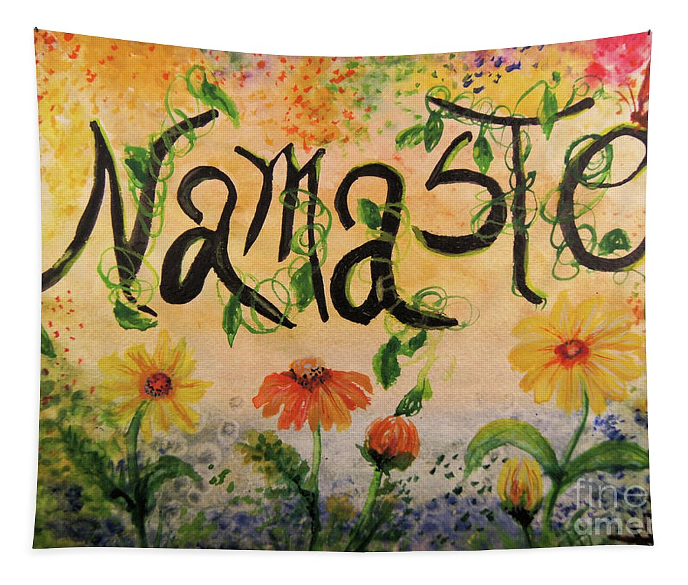 Namaste Tapestry featuring the painting Namaste by Sandra Gallegos