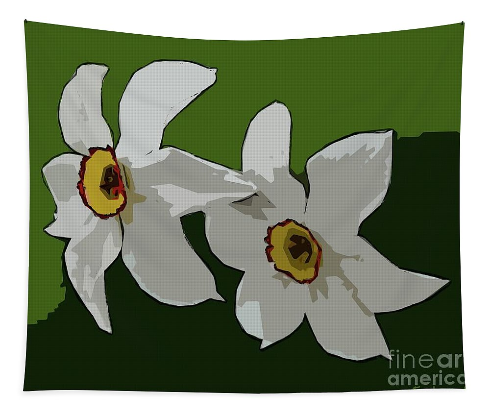 Flower Tapestry featuring the digital art Narcissus Flower by Dragica Micki Fortuna