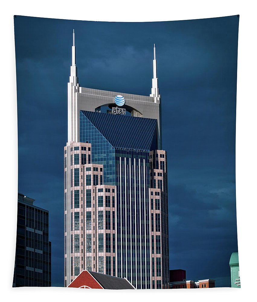 Ryman Auditorium Tapestry featuring the photograph Nashville Landmarks by Mountain Dreams