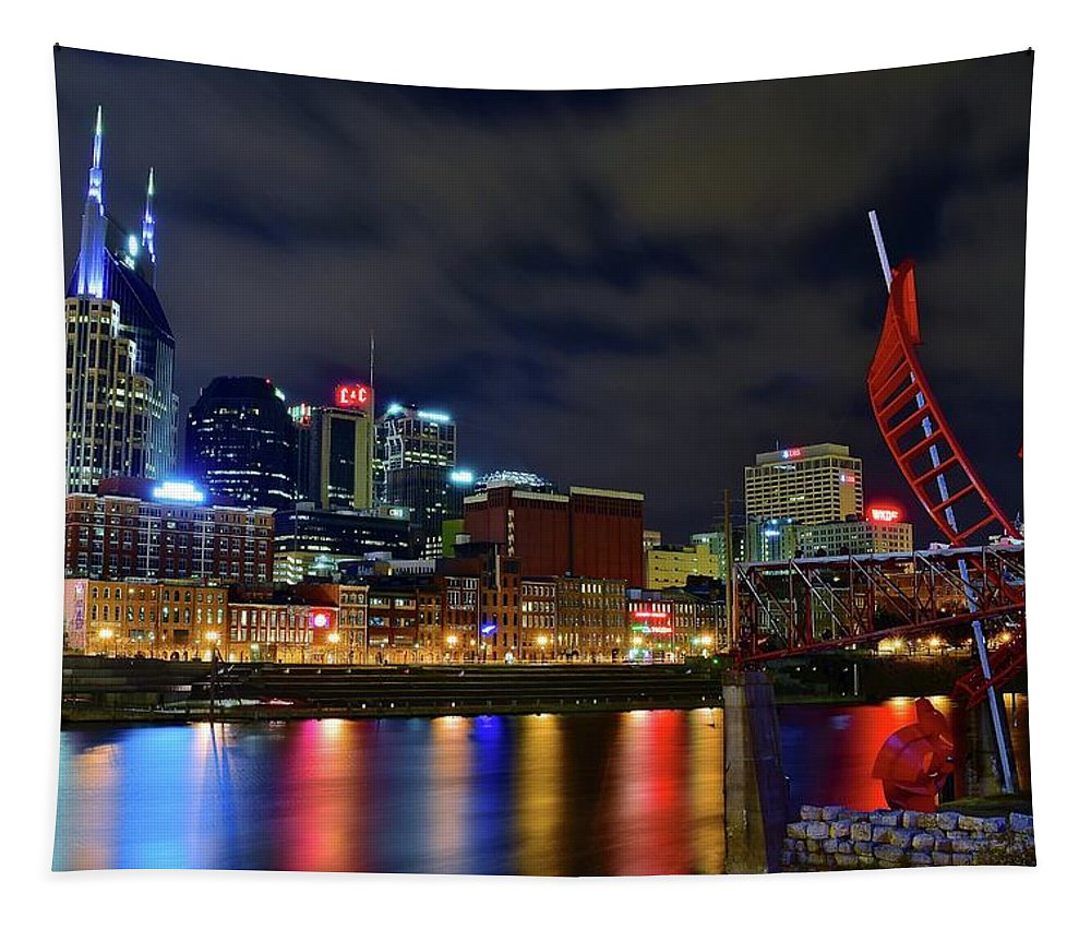 Nashville Tapestry featuring the photograph Nashvilles Ghost Ballet by Frozen in Time Fine Art Photography
