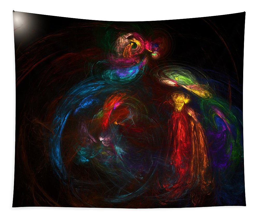 Fine Art Tapestry featuring the digital art Nativity by David Lane