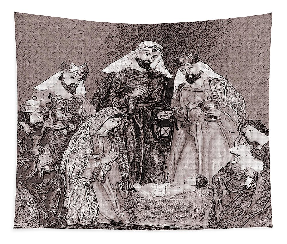 Greeting Card Tapestry featuring the photograph Nativity by Leticia Latocki