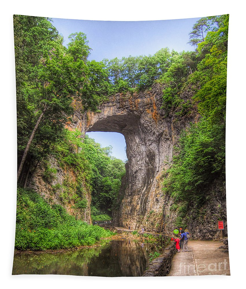 Natural Bridge Tapestry featuring the photograph Natural Bridge - Virginia Landmark by Kerri Farley