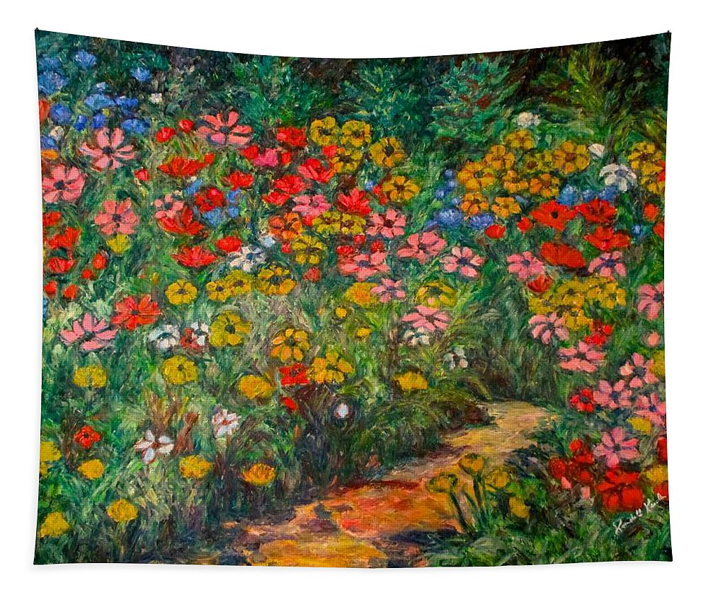 Wildflowers Tapestry featuring the painting Natural Rhythm by Kendall Kessler