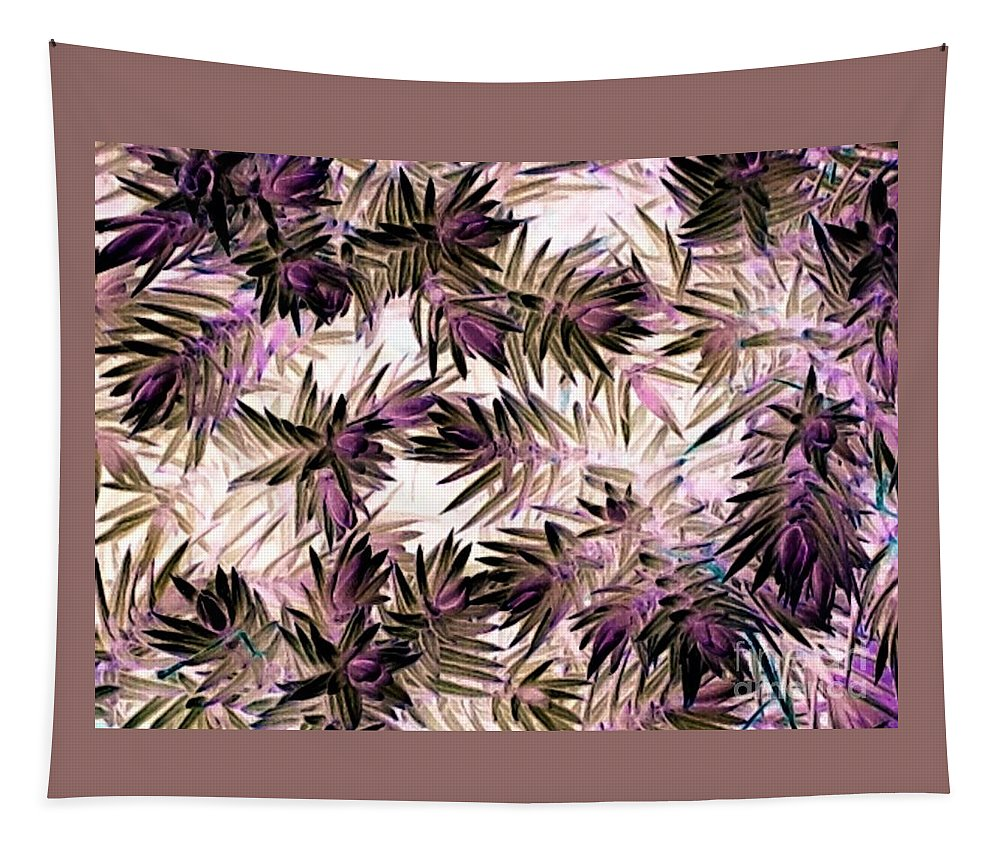 Nature Tapestry featuring the photograph Nature Abstract In Pink And Brown by Debra Lynch