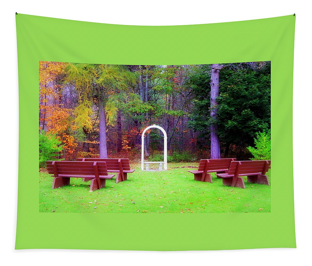 Nature's Chapel Tapestry featuring the photograph Nature's Chapel by Karen Cook