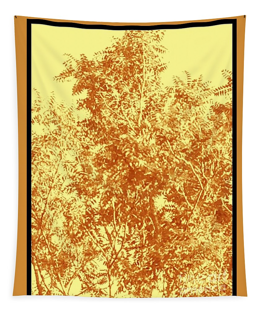 Nature Tapestry featuring the photograph Natures Trees In Brown And Yellow by Debra Lynch