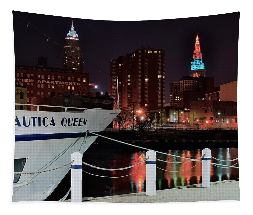 Iconic Tapestry featuring the photograph Nautica Queen by Frozen in Time Fine Art Photography