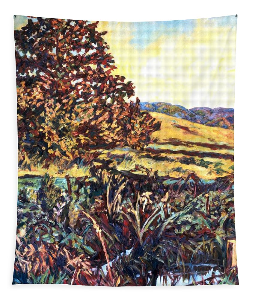 Landscape Tapestry featuring the painting Near Childress by Kendall Kessler