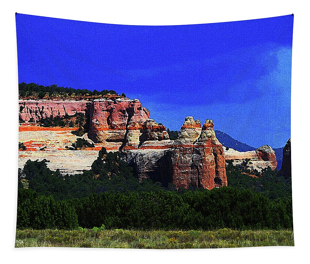Near El Morro National Monument New Mexico Tapestry featuring the photograph Near El Morro National Monument by Tom Janca